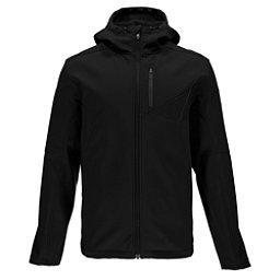 Spyder Patsch Hoody Mens Soft Shell Jacket, Black-Polar, 256