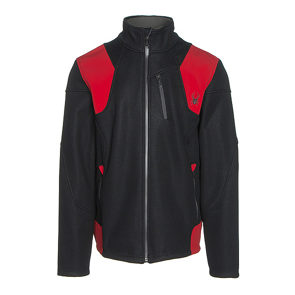 Spyder Legend 3L Mid WT Mens Sweater (Previous Season), Black-Red-Polar, 600