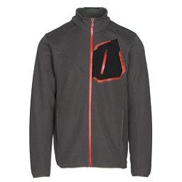 Spyder Paramount Full Zip Mens Sweater, Polar-Black-Rage, 256
