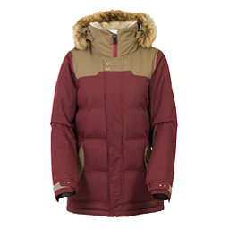 686 Authentic Runway with Faux Fur Womens Insulated Snowboard Jacket, Tobacco Herringbone, 256