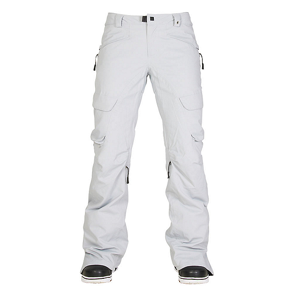 686 GLCR Geode Thermagraph Womens Snowboard Pants, Light Grey Diamond Dobby, 600