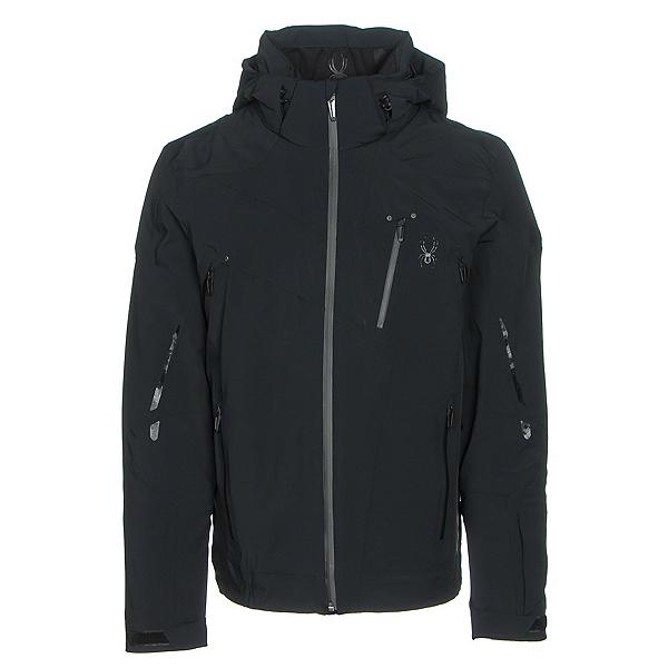 Spyder Bromont Mens Insulated Ski Jacket, Black-Black-Black, 600