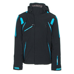 Spyder Garmisch Mens Insulated Ski Jacket, Black-Electric Blue-Electric Blue, 256