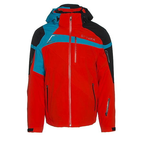 Spyder Titan Mens Insulated Ski Jacket (Previous Season), Rage-Black-Electric Blue, 600