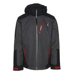 Spyder Chambers Mens Insulated Ski Jacket (Previous Season), Polar Crosshatch-Black-Red, 256