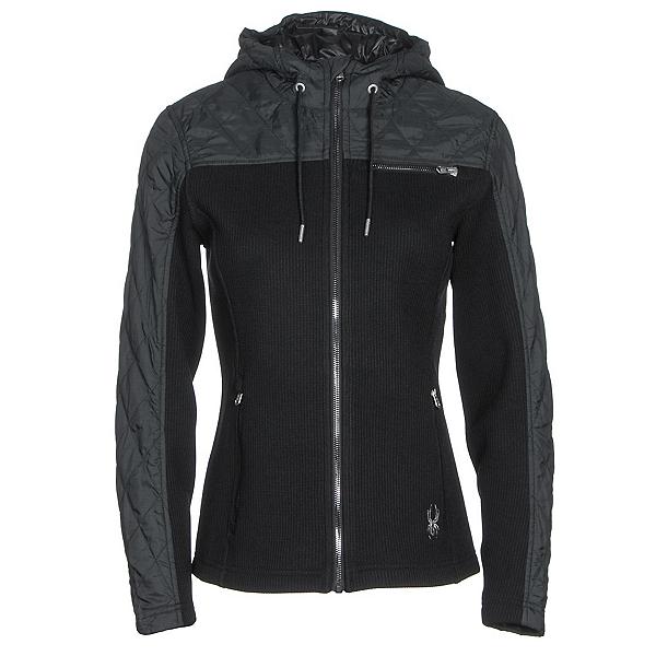 Spyder Ardour Mid Wt Womens Sweater (Previous Season), Black-Black Melange Fabric, 600