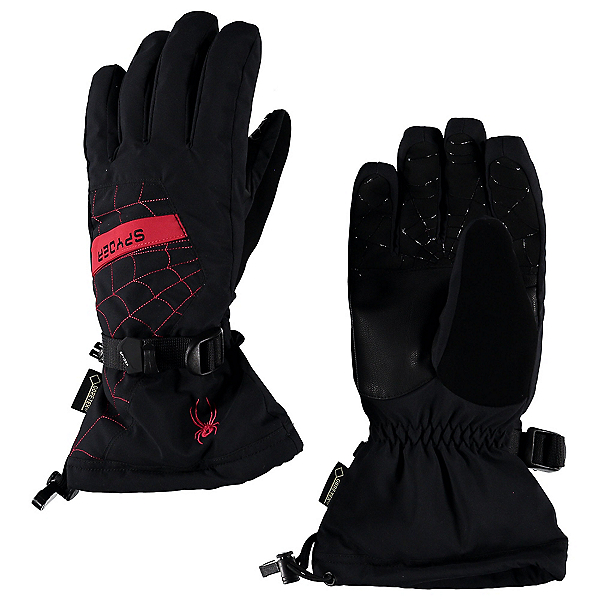 Spyder Overweb Gore-Tex Gloves, Black-Red, 600