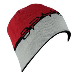 Spyder Reversible Word Hat, Black-Red-Cirrus, 256