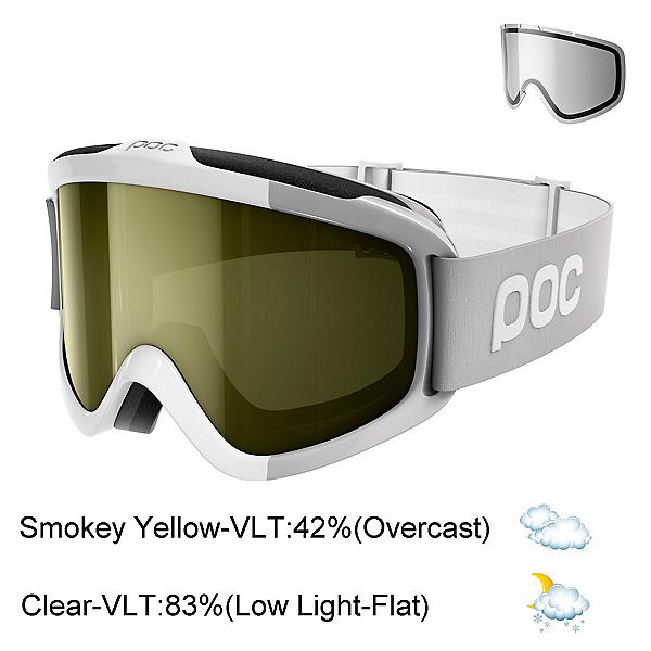 POC Iris Comp Goggles 2018, Hydrogen White-Smokey Yellow T + Bonus Lens, 600