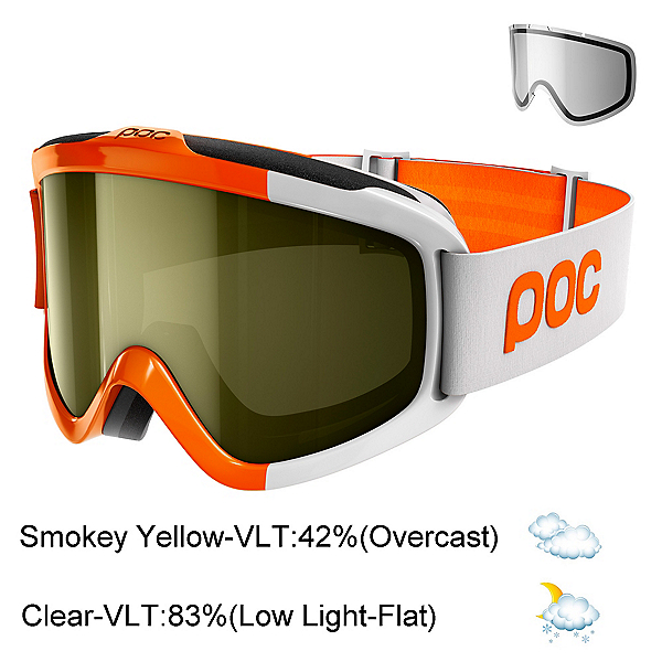POC Iris Comp Goggles 2018, Zink Orange-Smokey Yellow Tran + Bonus Lens, 600