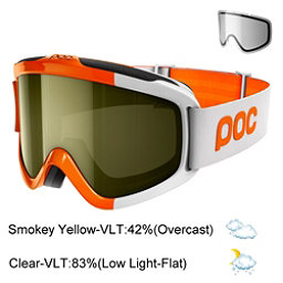 POC Iris Comp SML Goggles 2018, Zink Orange-Smokey Yellow Tran + Bonus Lens, 256