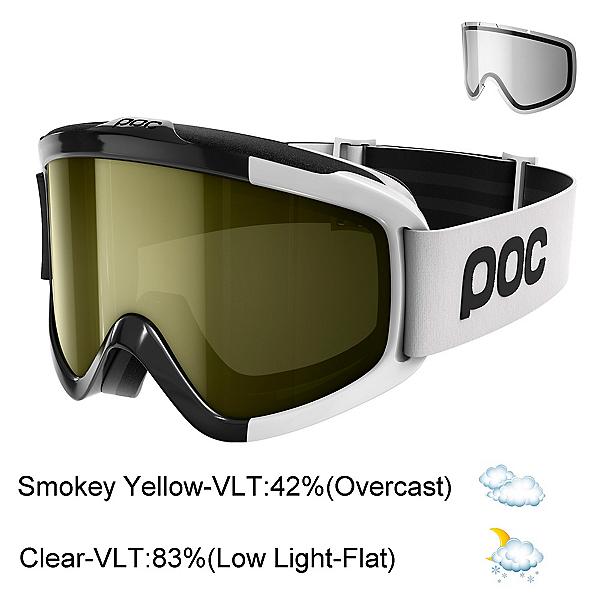 POC Iris Comp SML Goggles, Uranium Black-Smokey Yellow Tr + Bonus Lens, 600