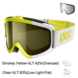 POC Iris Comp SML Goggles 2018, Hexane Yellow-Smokey Yellow Tr + Bonus Lens, 256