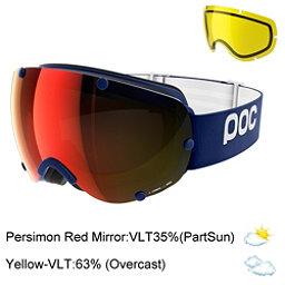 POC Lobes Goggles 2018, Butylene Blue-Persimmon Red Mi + Bonus Lens, 256