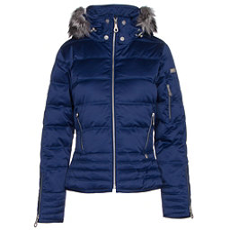 NILS Olivia Fur Womens Insulated Ski Jacket, Indigo, 256
