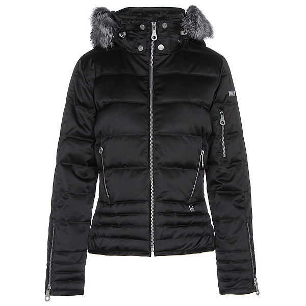 NILS Olivia Fur Womens Insulated Ski Jacket, Black, 600
