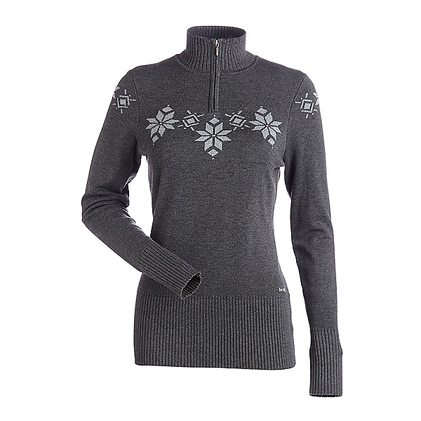 NILS Kora Womens Sweater, Pewter-Metallic Silver, 600