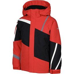 Karbon Jester Boys Ski Jacket, Red-Black-Arctic White-Smoke, 256