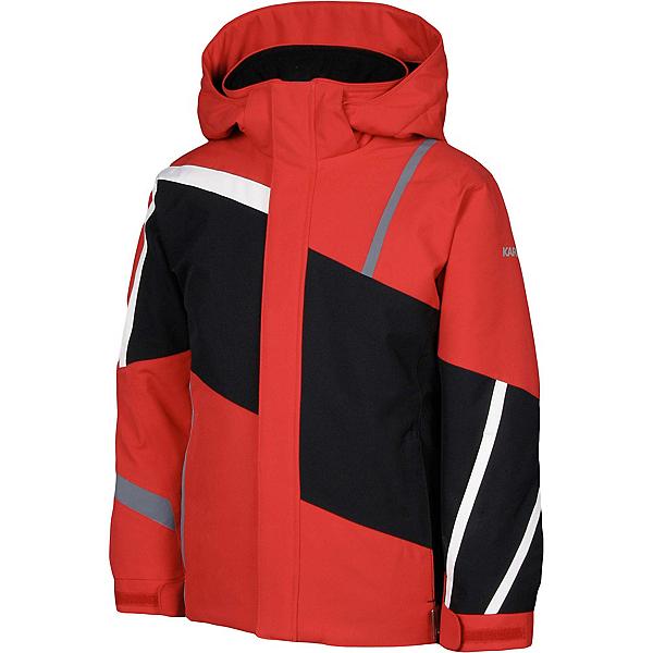Karbon Jester Boys Ski Jacket, Red-Black-Arctic White-Smoke, 600