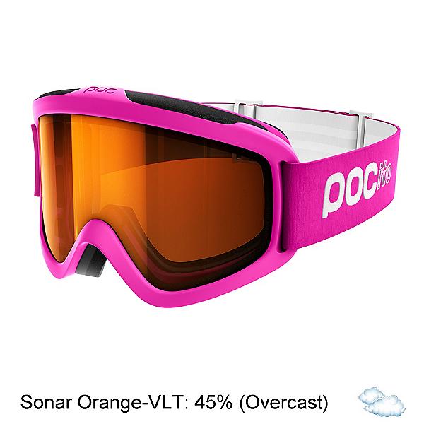 POC POCito Iris Kids Goggles, Fluorescent Pink-Sonar Orange, 600