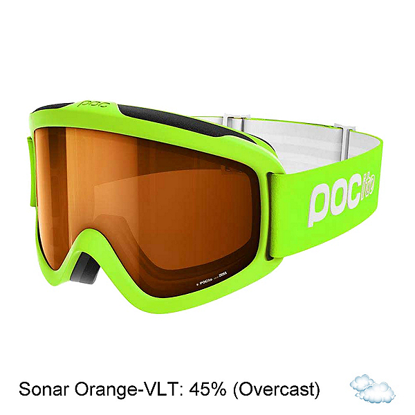 POC POCito Iris Kids Goggles, Fluorescent Yellow Green-Sonar, 600