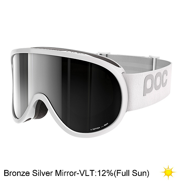 POC Retina Goggles 2018, Hydrogen White-Bronze Silver M, 600