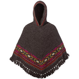 Sherpa Samchi Poncho Womens Sweater, Maato Brown, 256