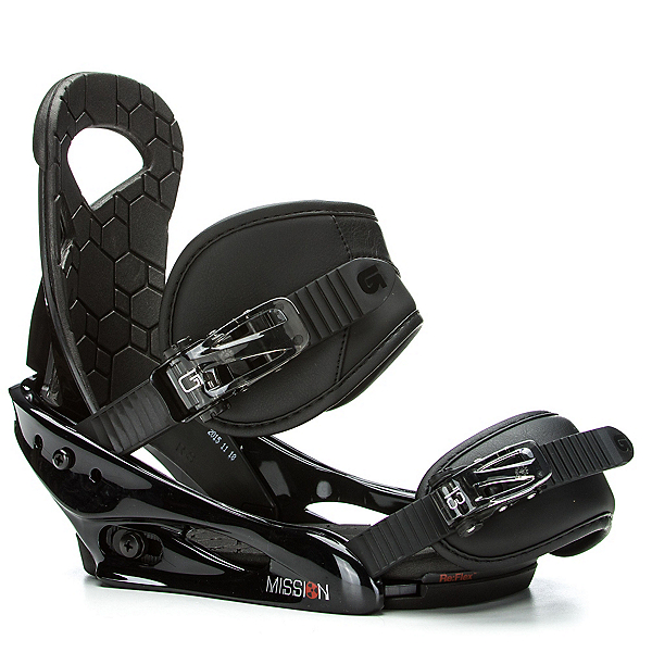Burton Mission Smalls Kids Snowboard Bindings, Black, 600