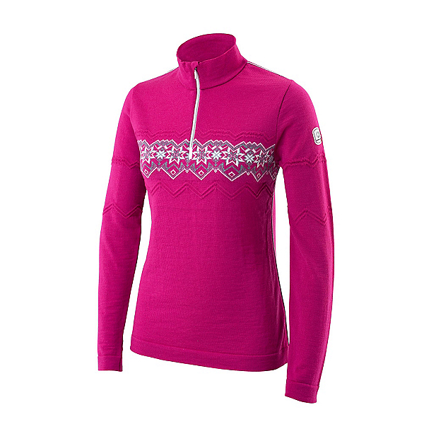 Newland Ester Half Zip Womens Long Underwear Top, Pink, 600