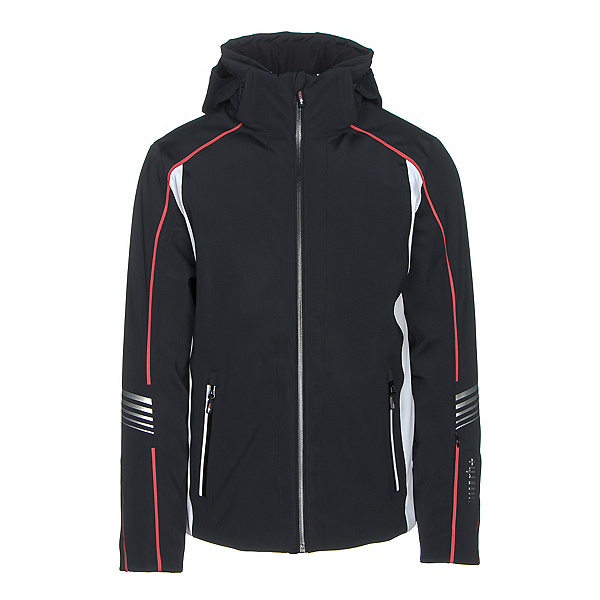 Rh+ Logo Mens Insulated Ski Jacket, Black-White, 600