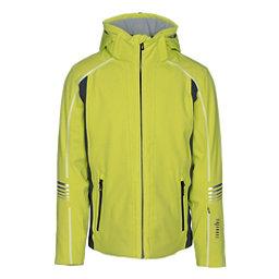 Rh+ Logo Mens Insulated Ski Jacket, Acid Green-Grey, 256