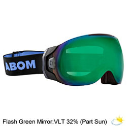Abom One Goggles 2018, Flash Green Mirror, 256
