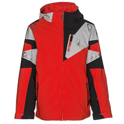 Spyder Leader Boys Ski Jacket, Rage-Black-Cirrus, 256