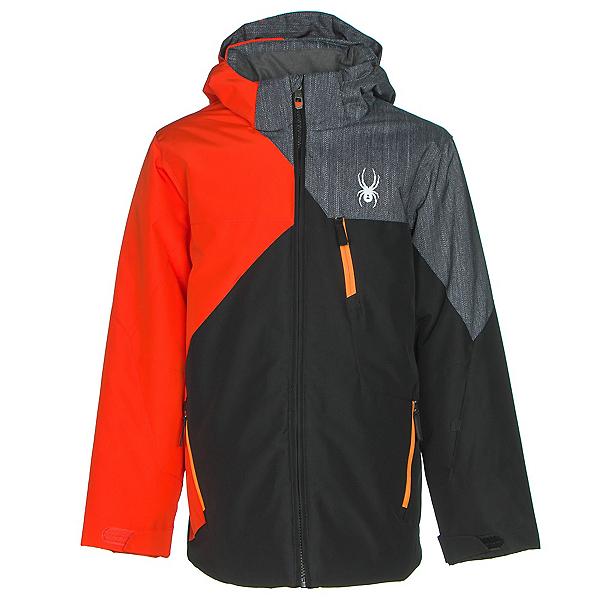 Spyder Ambush Boys Ski Jacket (Previous Season), Black-Rage-Herringbone Polar P, 600