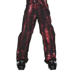 Spyder Action Kids Ski Pants, Space Armor Red Print, 256