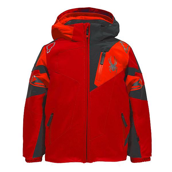 Spyder Mini Leader Toddler Ski Jacket, Rage-Polar-Bryte Orange, 600