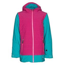 Spyder Moxie Girls Ski Jacket, Bluebird-Voila-Bryte Bubblegum, 256