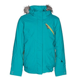 Spyder Lola Girls Ski Jacket, Bluebird-Acid, 256
