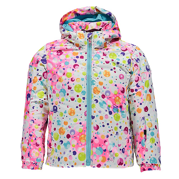 Spyder Bitsy Glam Toddler Girls Ski Jacket, Party Multi Print-Freeze, 600
