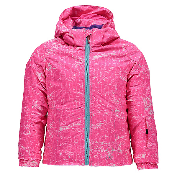 Spyder Bitsy Glam Toddler Girls Ski Jacket, Sequins Bryte Bubblegum Print-, 600