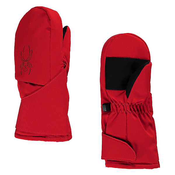Spyder Mini Cubby Toddlers Mittens, Red-Black, 600