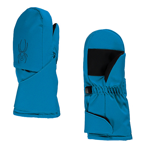 Spyder Mini Cubby Toddlers Mittens, Electric Blue-Black, 600