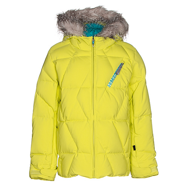 Spyder Hottie Girls Ski Jacket, Acid-Harmony Bluebird Print, 600