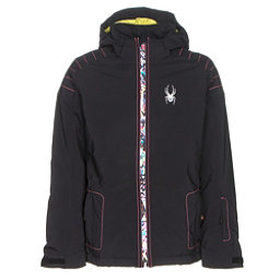 Spyder Glam Girls Ski Jacket, Black-Kaleidoscope White Print, 256