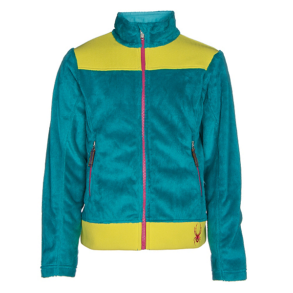 Spyder Core Caliper Girls Jacket, Bluebird-Acid-Voila, 600