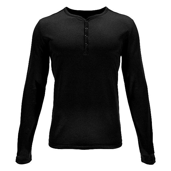 Spyder Steward Henley Mens Shirt, Black, 600