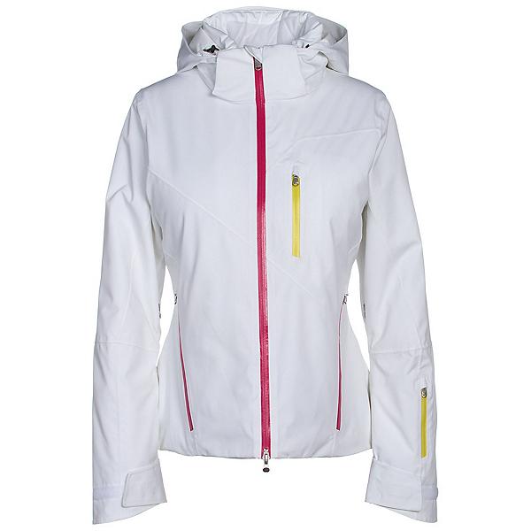 Spyder Fraction Womens Insulated Ski Jacket, White-Voila-Acid, 600