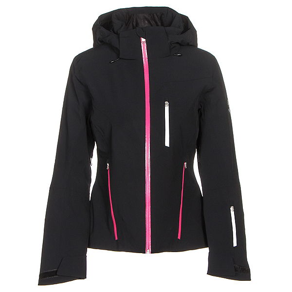Spyder Fraction Womens Insulated Ski Jacket (Previous Season), Black-Voila-White, 600