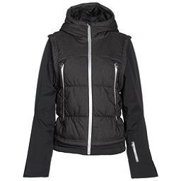 Spyder Moxie Womens Insulated Ski Jacket (Previous Season), Black Denim-Black-Silver, 256