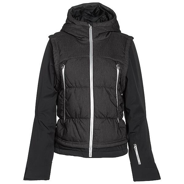 Spyder Moxie Womens Insulated Ski Jacket (Previous Season), Black Denim-Black-Silver, 600